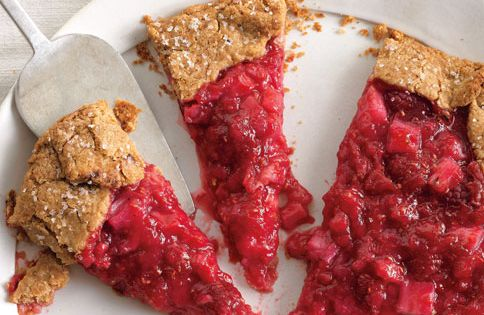 Rhubarb and Raspberry Crostata. This dough, with its addition of whole wheat