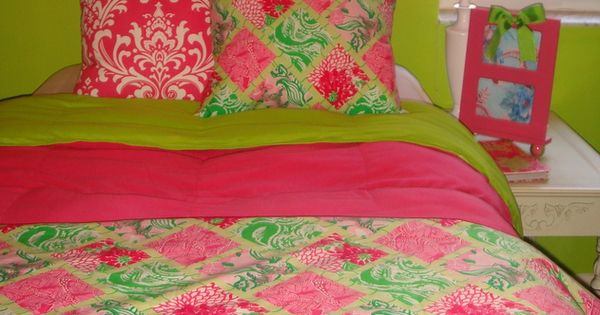 Preppy Dorm Bedding: Custom Dorm Bedding Sets Featuring Lilly Pulitzer Fabrics
