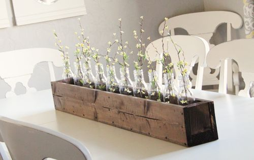 diy planter box for center piece.