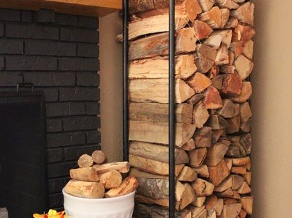 Make an Awesome Firewood Rack Using Plumbing Pipe - I miss having