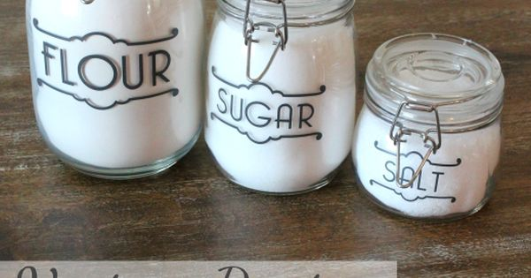 vintage pantry jar labels