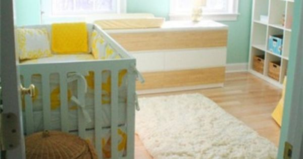Beautiful wall color. It's nice paired with yellow accents, too Love this