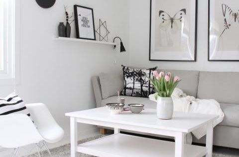 Salon peque o blanco decoraci n salones pinterest for Pinterest decoracion salones
