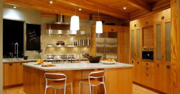 Warm Wood Chalkboard Kitchen Pinterest Kitchens Galleries And Woods