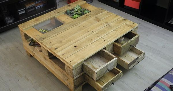 Table basse de 80 x 80 cm et 36 cm de hauteur avec deux - Table basse vitree ...