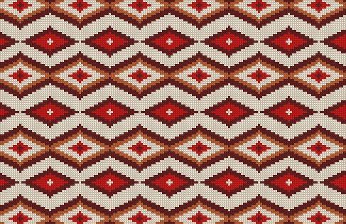 Patron punto cruz foto del bordado virtual alfombra for Como hacer alfombras en bordado chino