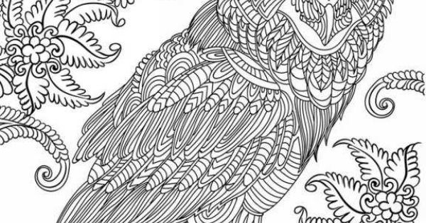 stress relieving coloring pages owls - photo#13