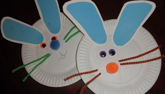 Easy Easter Craft To Do With Preschoolers and Toddlers paper plate bunny