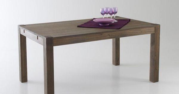 Table 2 allonges pin massif 6 8 couverts lunja la for Table exterieur la redoute