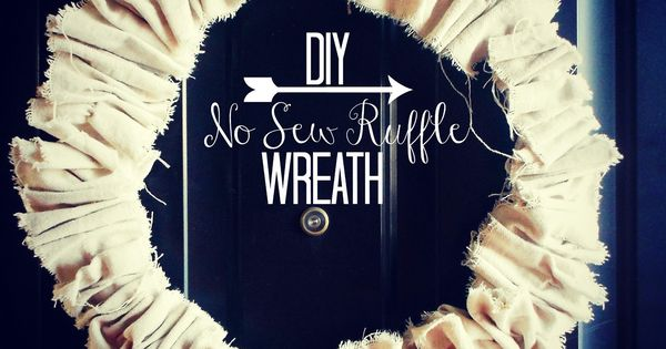 My Fabuless Life: No Sew Drop Cloth Ruffle Wreath diy wreath |