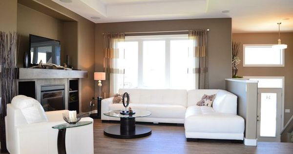 Split Level Living Room Furniture Placement Design Ideas
