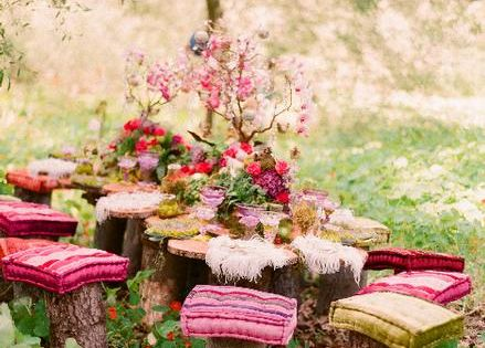 Fairy tea Party outdoor photo shoot
