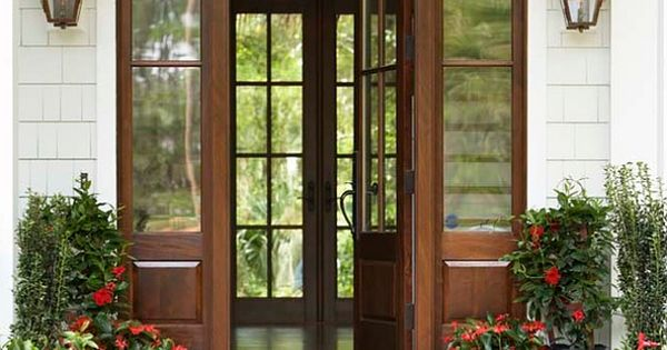 This is a mahogany door with a walnut stain. Door Measurements: 3′