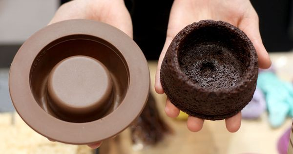 Brownie bowl mold!! Would be perfect for icecream! Yum!