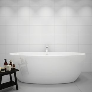 Wickes White Gloss Ceramic Wall Tile 275 X 360 Pk Wickes Co Uk In 2020 Bathroom Wall Tile White Tile Bathroom Walls White Bathroom Tiles