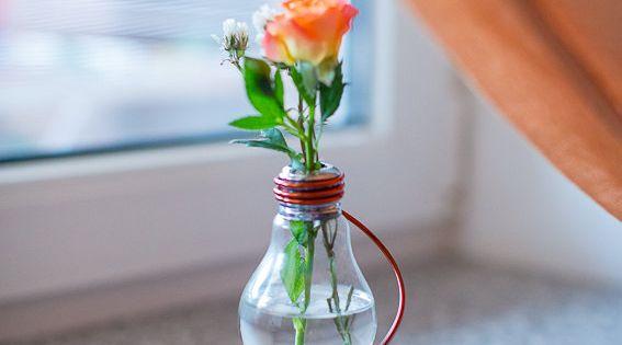 Top ventas florero vintage de bombilla reciclado - Bombillas decoradas ...