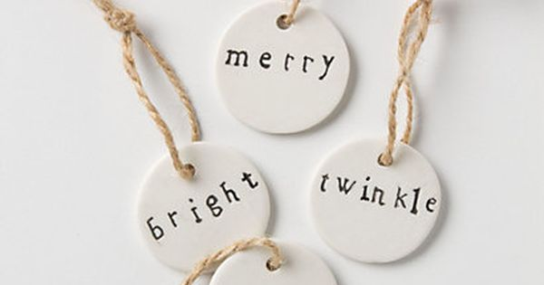 ceramic christmas gift tag set.