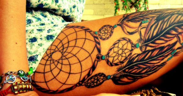 Beautiful dream catcher tattoo (placement)