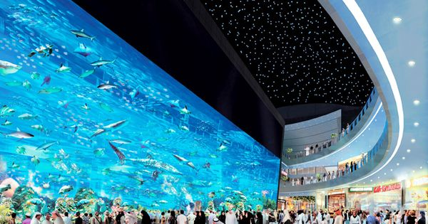 the world s largest shopping mall dubai with aquarium and underwater zoo lugares especial