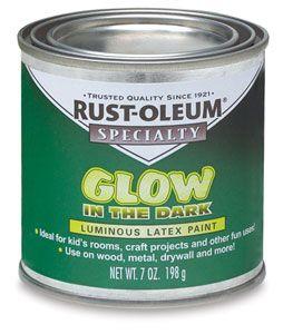 Rust Oleum Glow In The Dark Brush On Paint Outside
