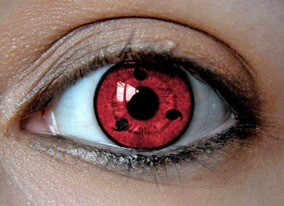 sharingan contact lenses! I was all like, wut ...