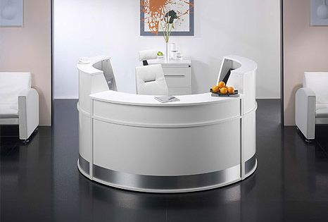 White Office Furniture On Ultra Modern Contemporary White