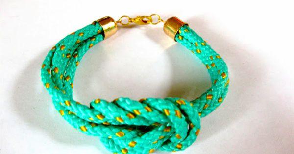 DIY Square Knot Cord Bracelet