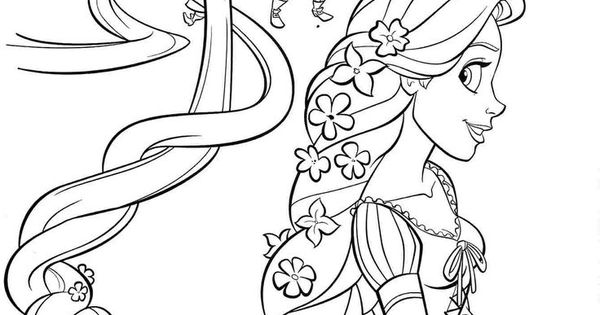 Rapunzel And Four Sisters Coloring Page