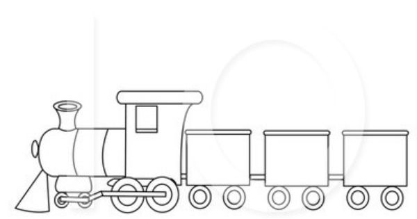 train outline Bence 2nd Pinterest Outlines and