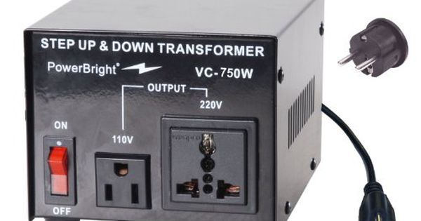Power Bright Vc750w Voltage Transformer 750 Watt Step Updown Converter 110120 Volt 220240 Volt Continue To The Prod Travel Adapter Transformers Converter
