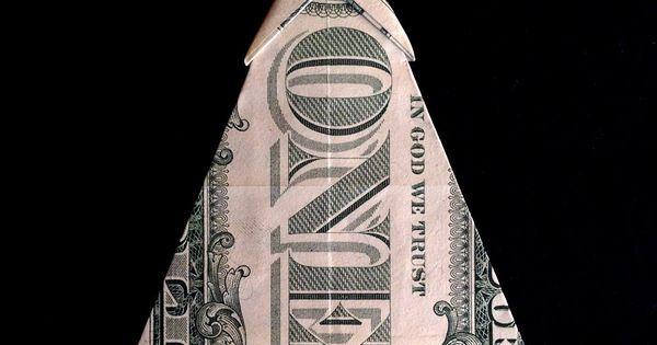 Money Origami CHRISTMAS TREE Real 1 Dollar Bill Gift Ideas