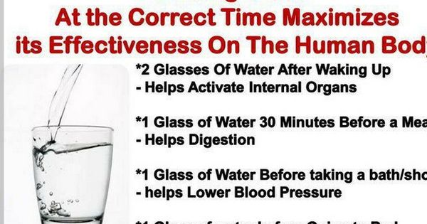 Pure, clean drinking water does much to keep your body running smoothly