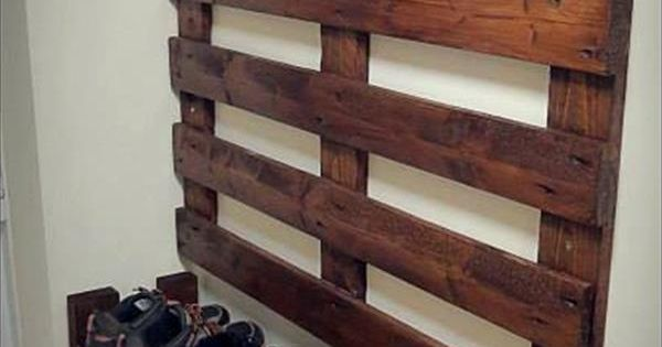Hallway Pallet Coat Rack and Shoe Rack 101 Pallets