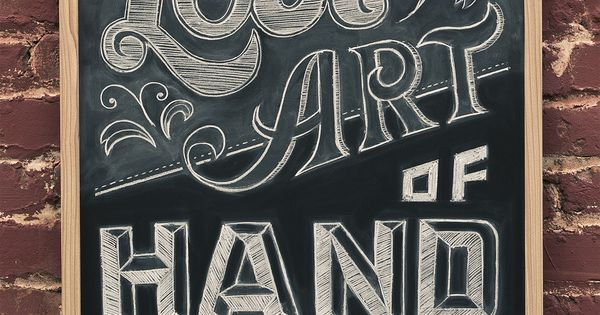 How to write on your chalkboard wall: the lost art of hand