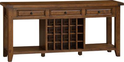 Pine Wine Storage Sofa Table