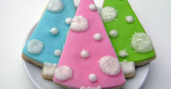 christmas tree sugar cookies | Gluten Free Retro Christmas Tree Sugar Cookies
