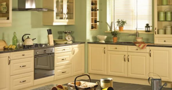 The Kitchen Stop Yellow Kitchen Cabinets Kitchen Design Green Kitchen Walls
