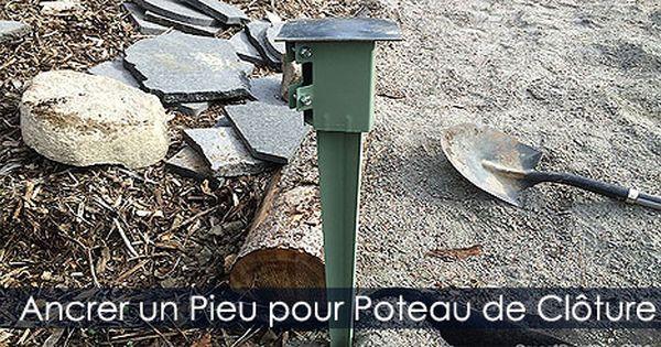 Poser des poteaux de cl ture ancrage avec trier pour poteaux de cl turure - Ciment pour poteau cloture ...