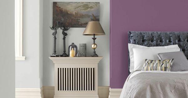 Wohnraumgestaltung mit frischen Farben - Lila und Grau ...