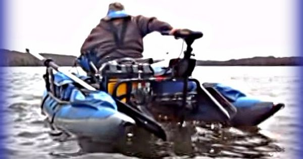 Inflatable pontoon bass fishing tips boating pinterest for Fly fishing pontoon