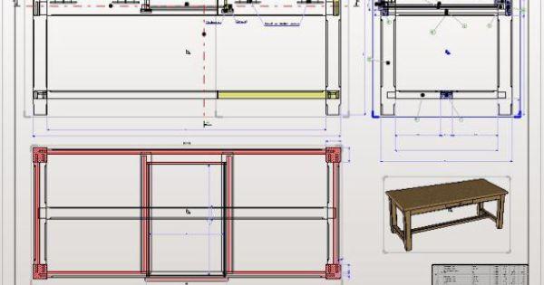R alisation de d 39 un dessin technique pour la fabrication d - Plan d une table en bois ...