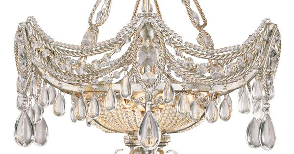 Silver And Gold Foil 18 Quot Wide Ceiling Light Fixture