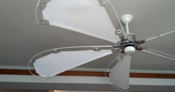 Ceiling fan utilizing bike parts fishing rods and boat sails made by casablanca home ideas - Beach themed ceiling fan ...