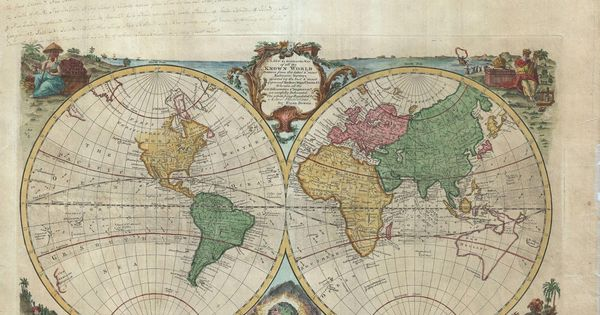 World Map 18th Century. A new & accurate map of all the ...