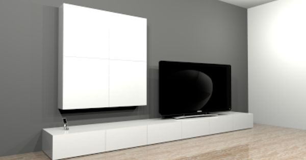 Projet de cr ation de mobilier contemporain banc tv for Banc de television