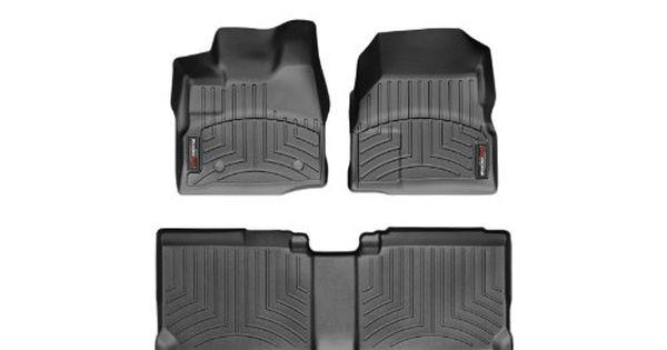2011 2014 Gmc Terrain Black Weathertech Floor Liner Full Set With Dual Floor Posts Weather Tech Chevy Equinox 2014 Chevy