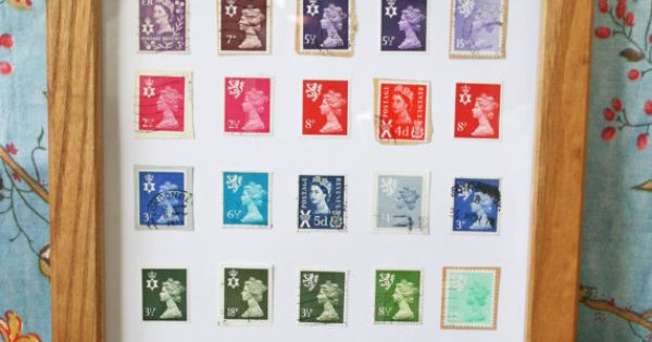 an old stamp collection that could become something fun :) | Crafts