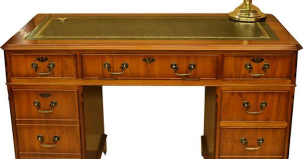 Google Image Result For Http Thegentlemanblog Files Wordpress Com 2011 04 Yew Bankers Desk Lamp Victorian Desk Pedestal Desk