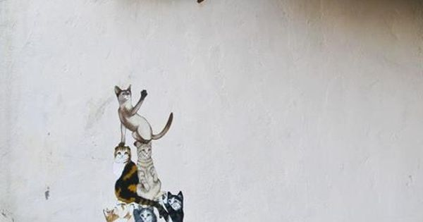 Cats… you've got to love 'em! Not sure who this artist is,