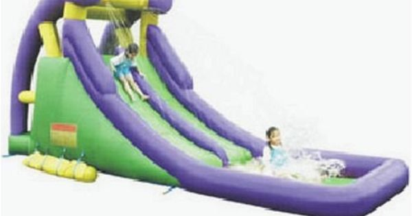 Amazon Com Double Inflatable Water Slide Toys Games Inflatable Water Slide Water Slides Inflatable Water Park